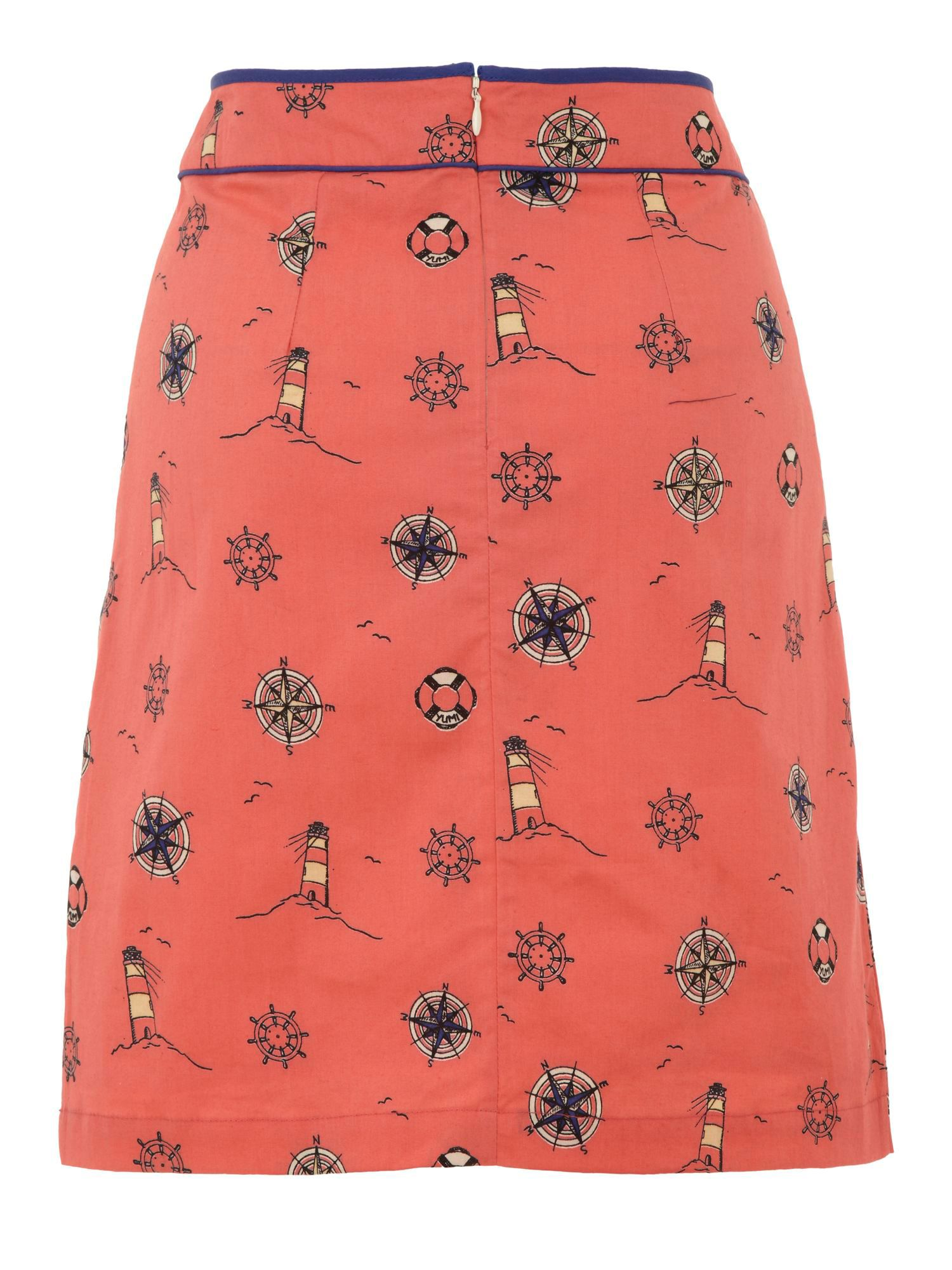 Lighthouse print skirt
