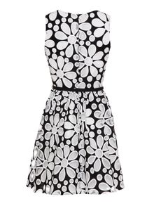 Daisy cut-out prom dress