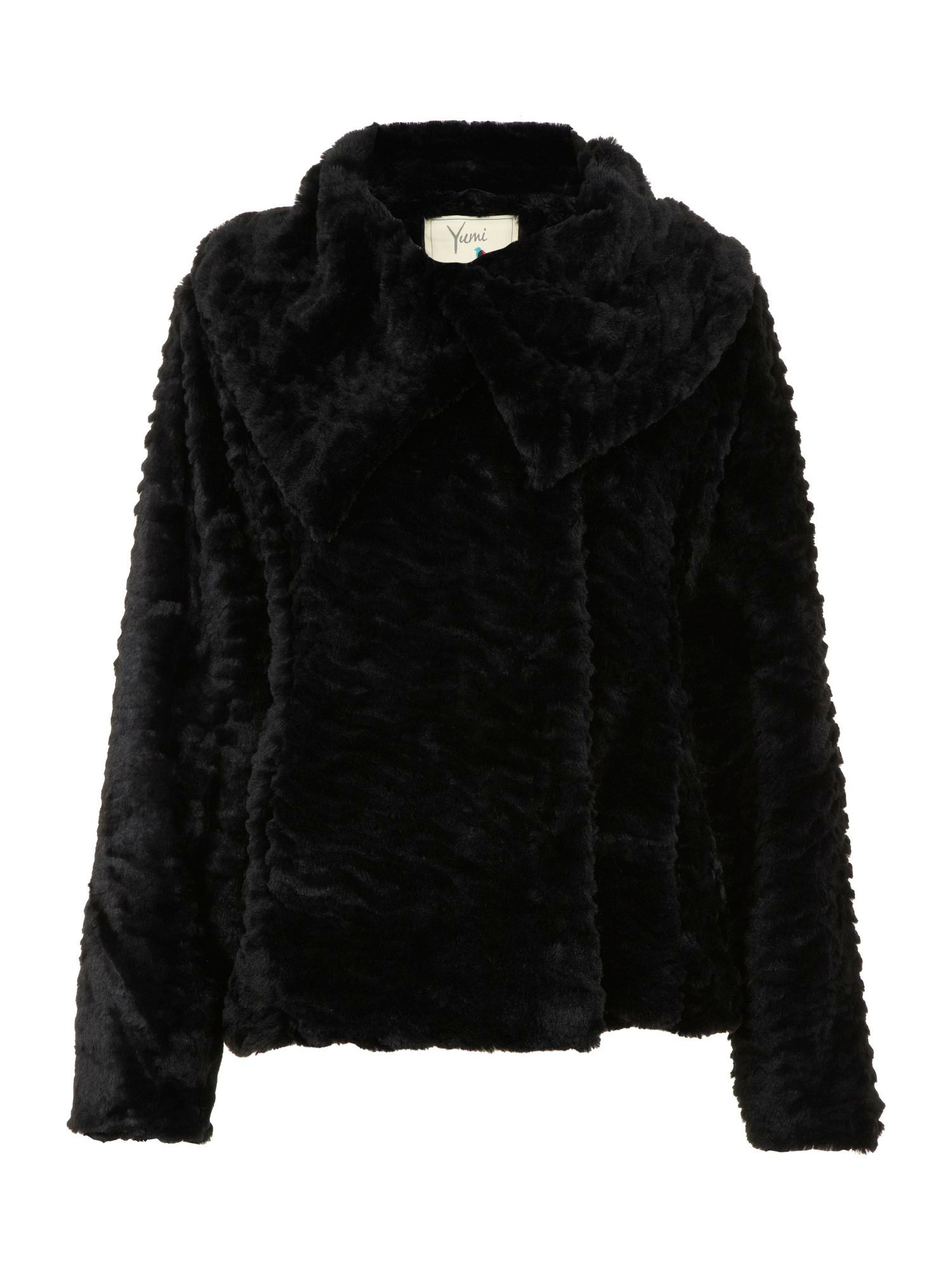 Faux fur fold over jacket
