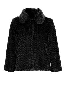 Faux Fur collared jacket