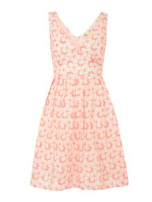 The neon floral dress