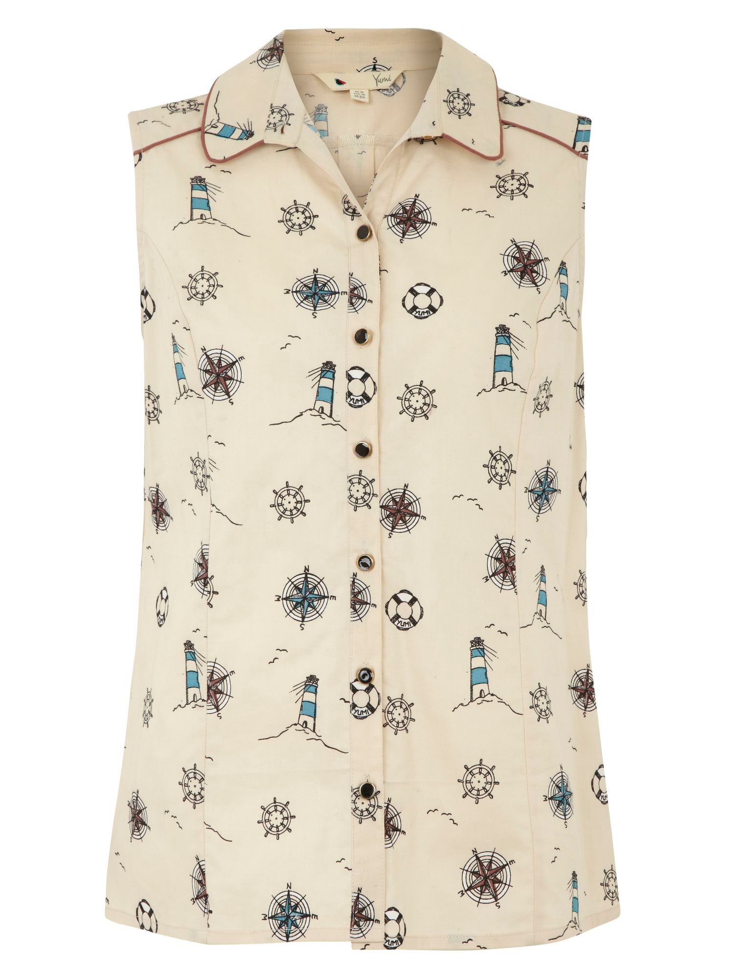 Lighthouse print shirt