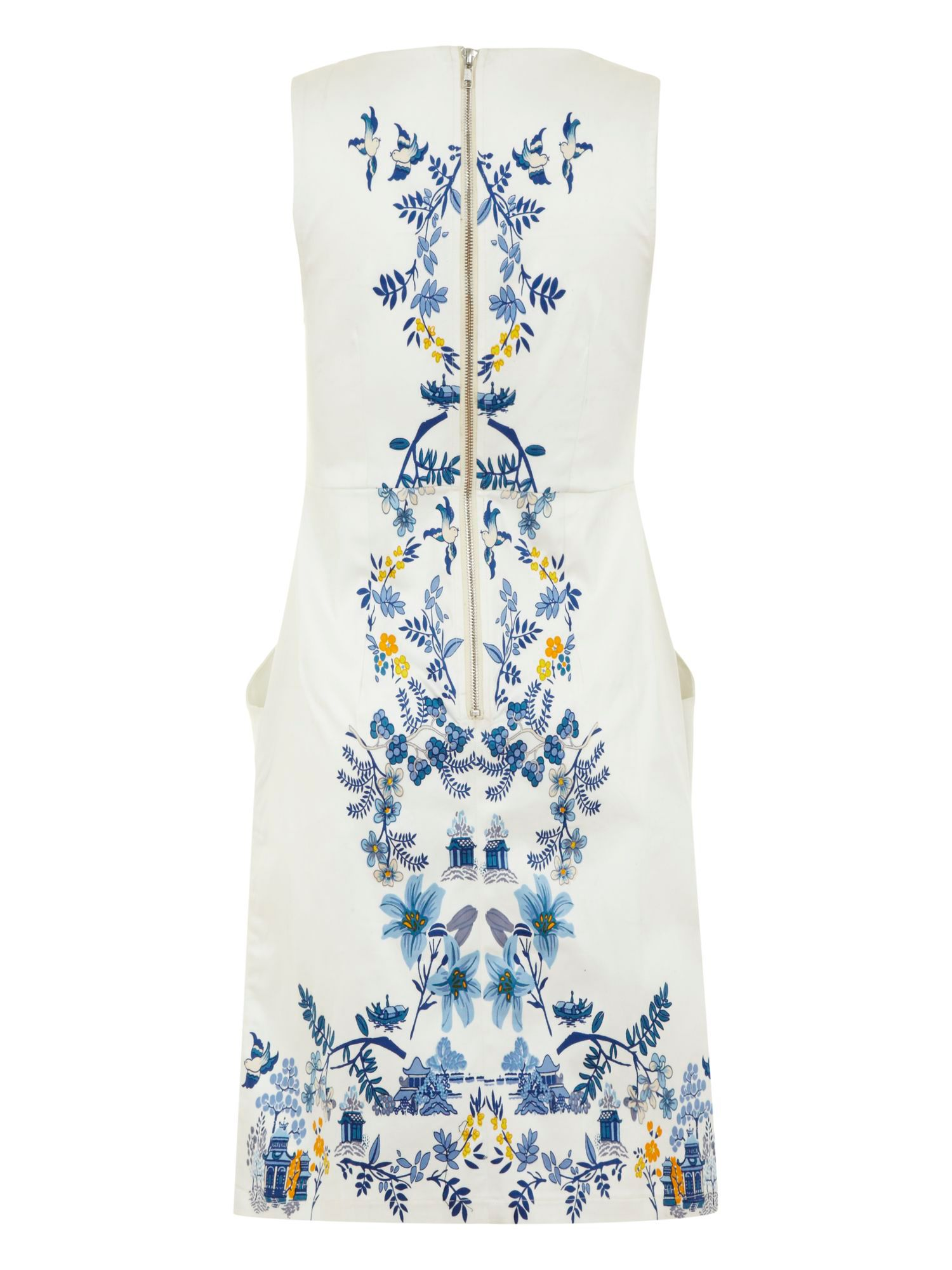 Mirror willow print dress