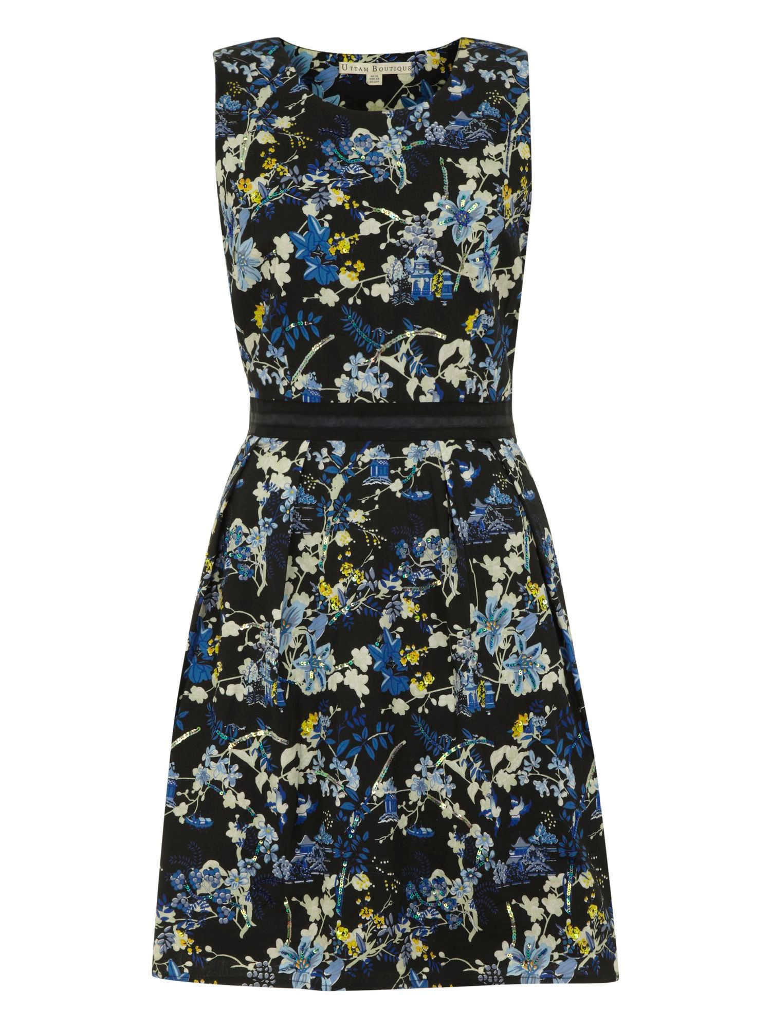 Willow print waistband dress