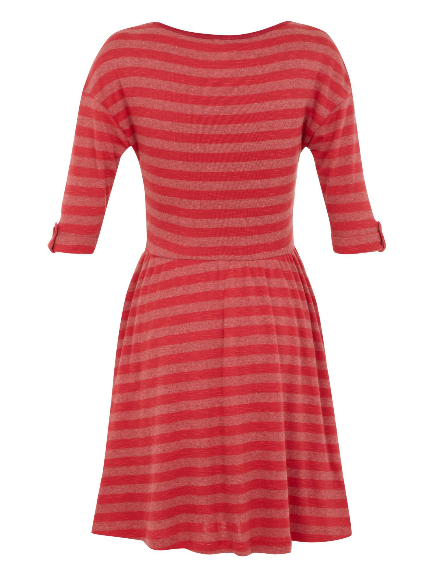 Girl`s stripe jersey dress