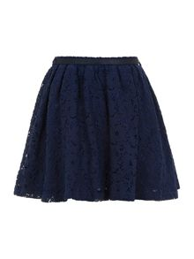 Girl`s a-line lace skirt