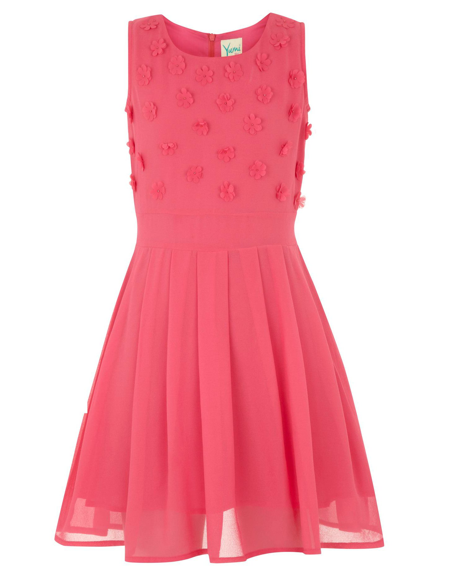 Girl`s 3d bright flower dress