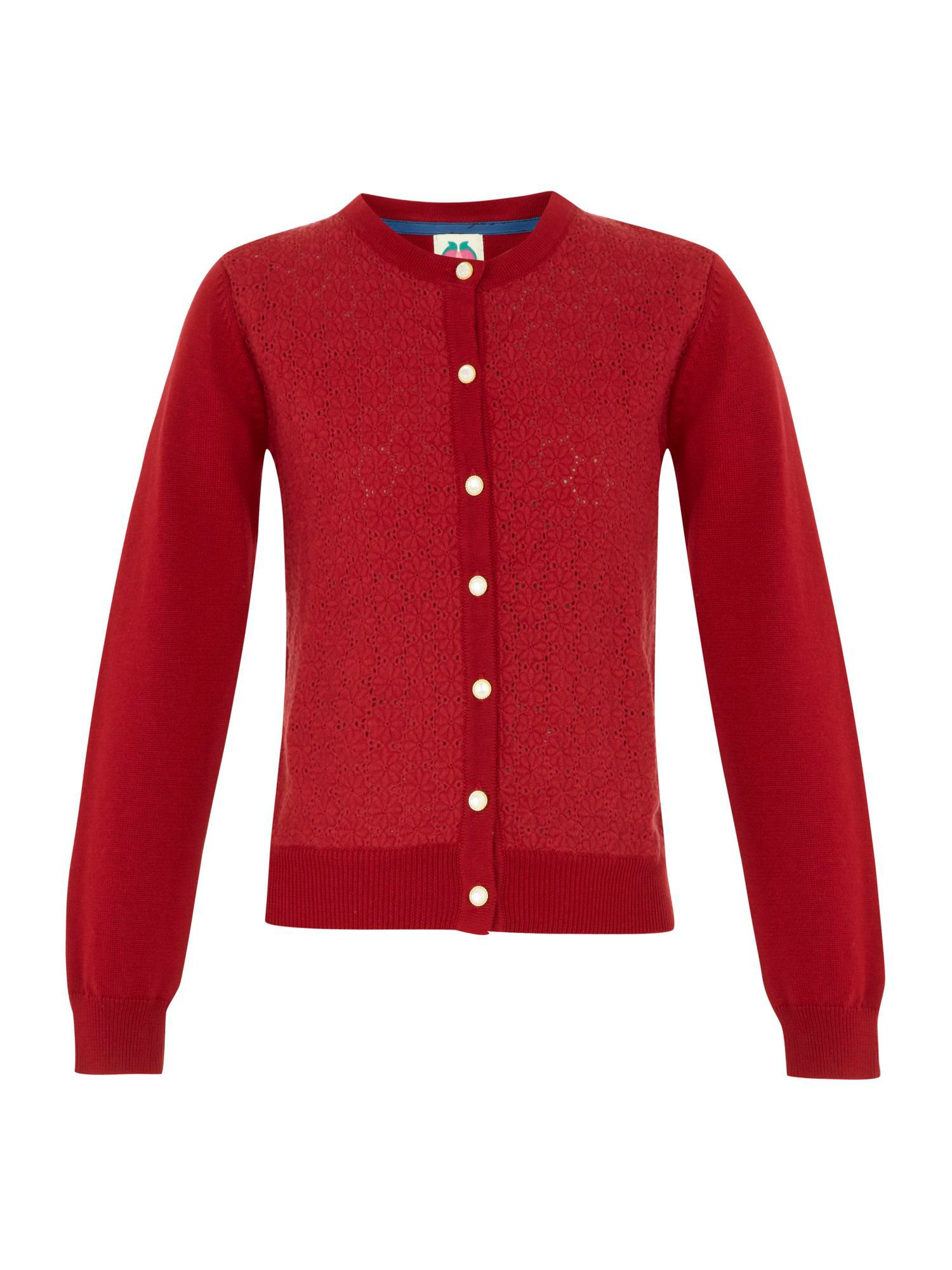 Girl`s knitted lace cardigan