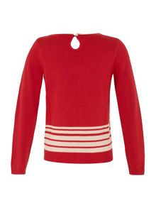 Girl`s bicycle jumper