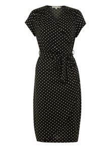 Spotty Wrap Dress