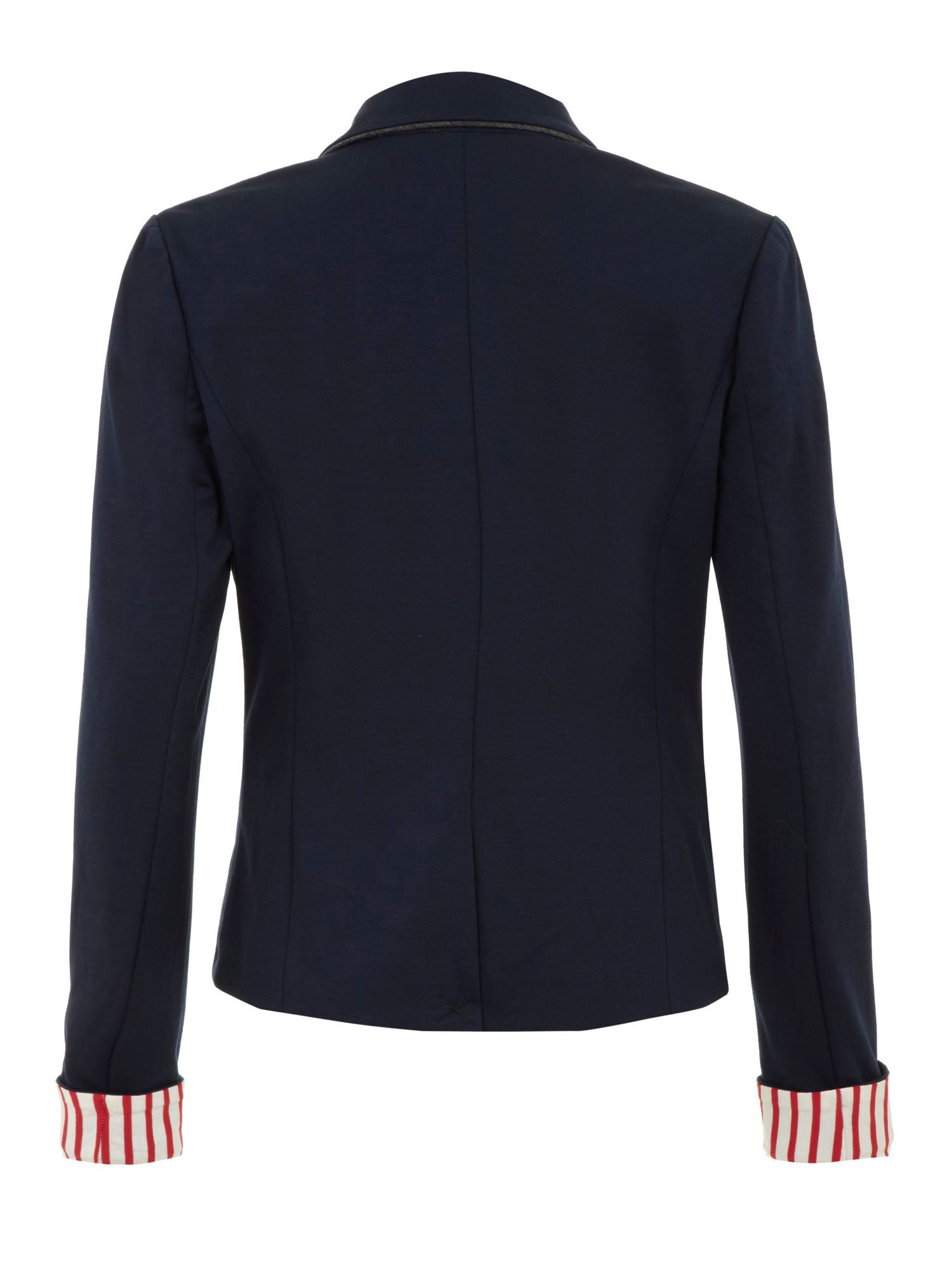 Nautical strip blazer