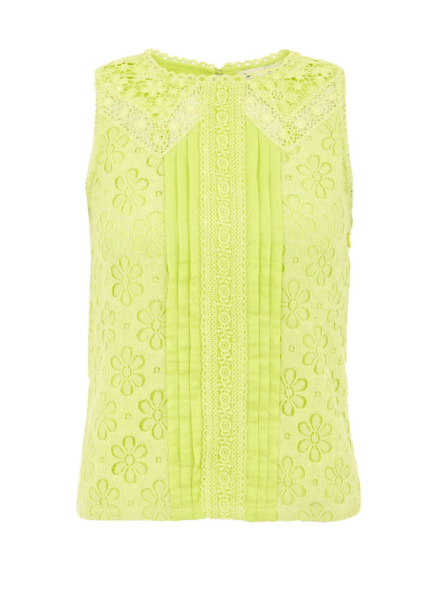 Lace and pleat top