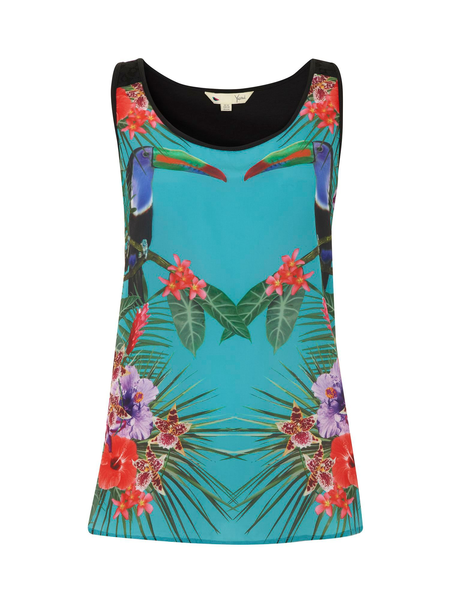 Mirrored toucan print vest