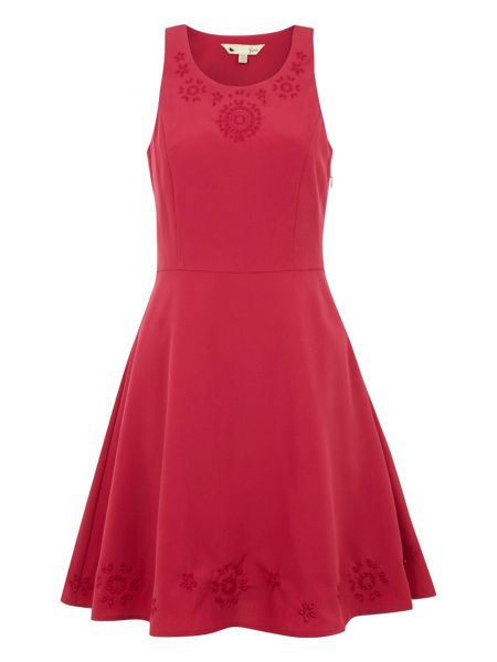 Yumi Cut-out skater dress