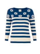 Yumi Daisy and stripe jumper