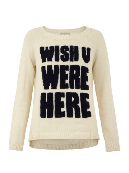 Yumi Nautical slogan jumper