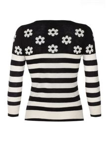 Daisy and stripe jumper