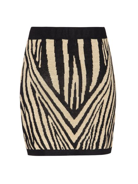 Mela London Animal Print Skirt