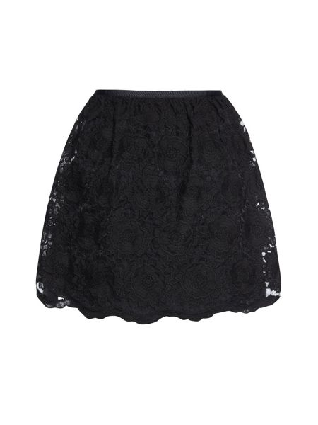 Yumi Flower lace skirt