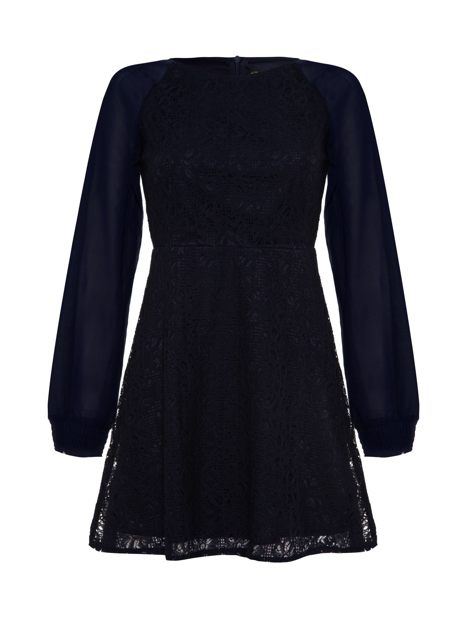 Lace front long sleeved dress