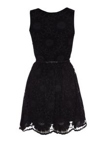 Yumi Floral lace dress