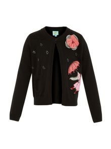 Girls corsage cardigan