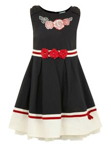 Girls plain bow dress