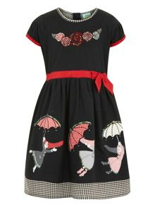 Girls tie waist dress