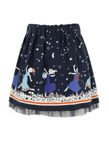 Girls star border skirt