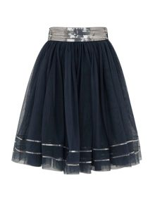 Girls sequin mesh skirt