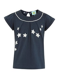 Girls party star top
