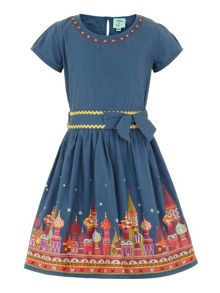 Girls castle hem dress