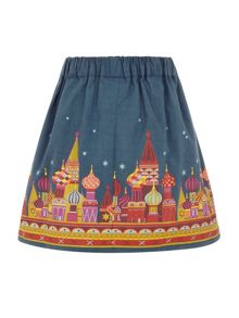 Girls castle hem skirt