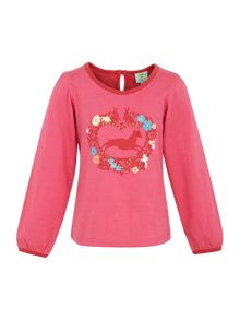 Girls heart print top