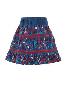 Girls ditsy flower skirt