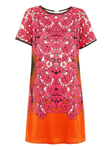 Uttam Boutique Folklore Scarf Print Shift Dress