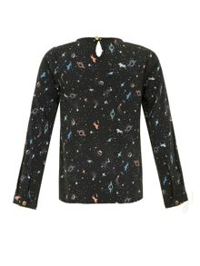 Girls cosmic print top