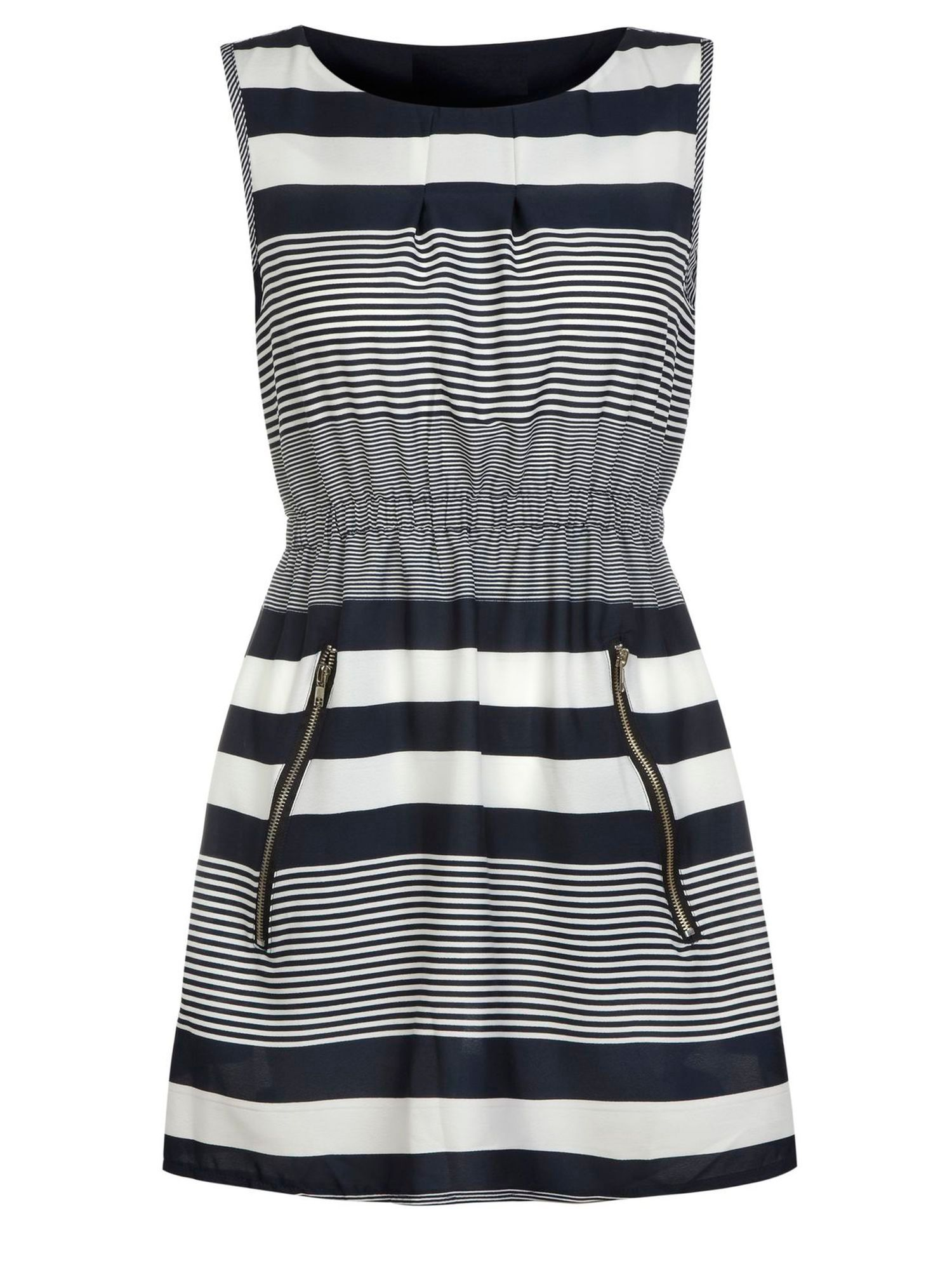 Stripe zip dress