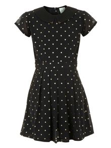 Yumi Girls Girls starry print dress