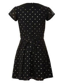 Girls starry print dress