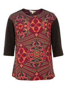Deco Tribe Print Top