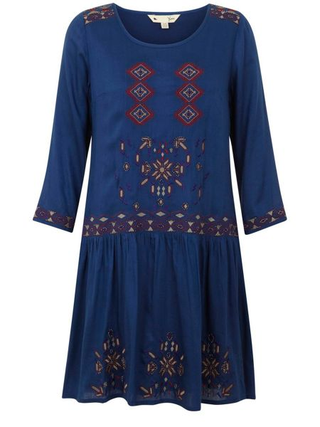 Yumi Eclectic Embroidery Dress