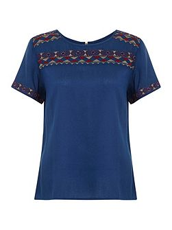 Eclectic Embroidery Top
