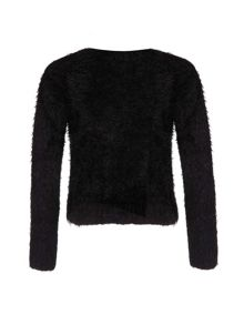Girls star fluffy jumper