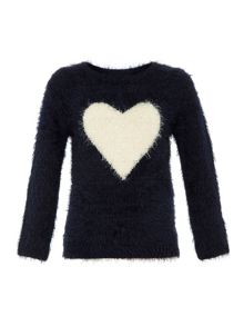 Girls heart jumper