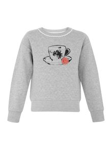 Girls teacup sweatshirt