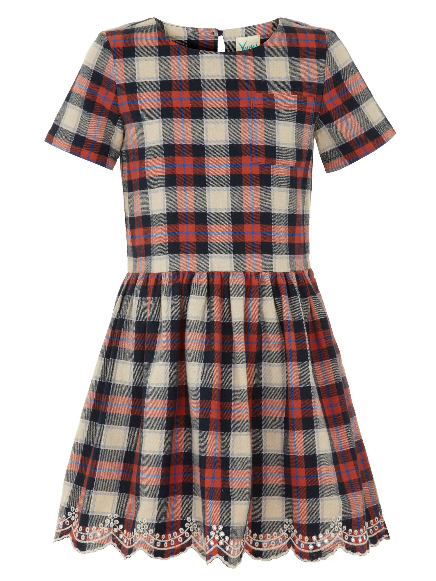 Girls checked dress