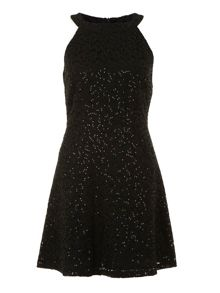 Sequinned lace dress