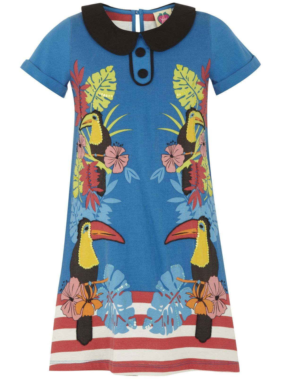 Girl`s toucan tunic dress