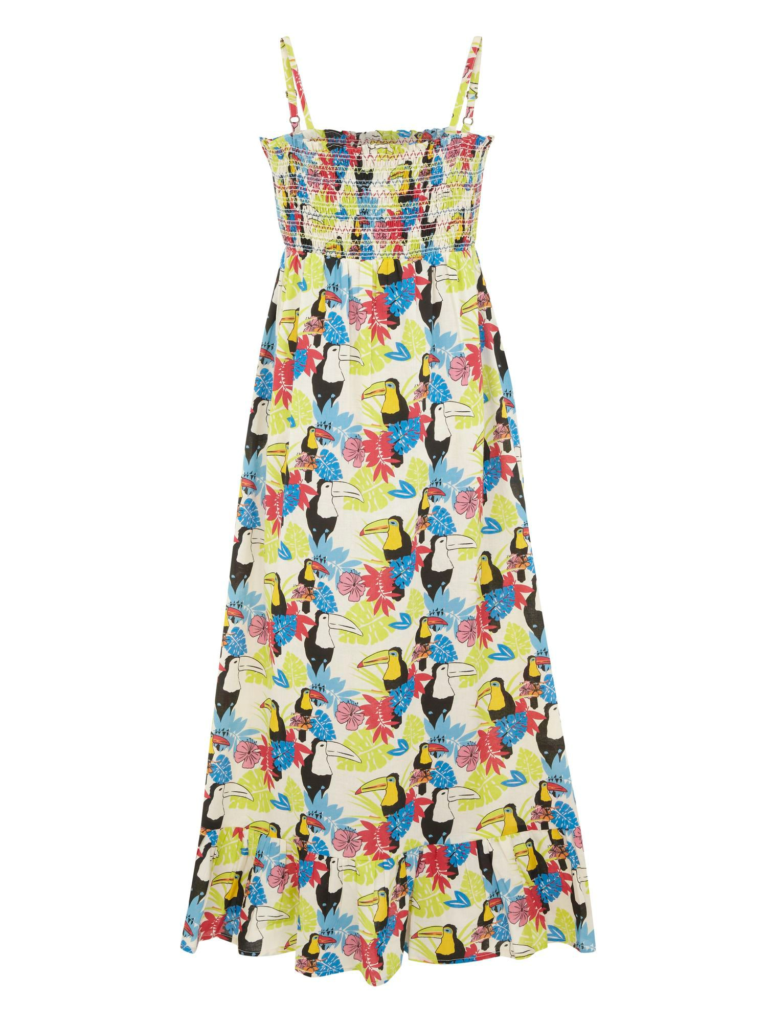 Girl`s toucan maxi dress